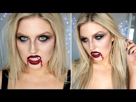 Sexy Vampire Makeup ♡ Shaaanxo Halloween - YouTube