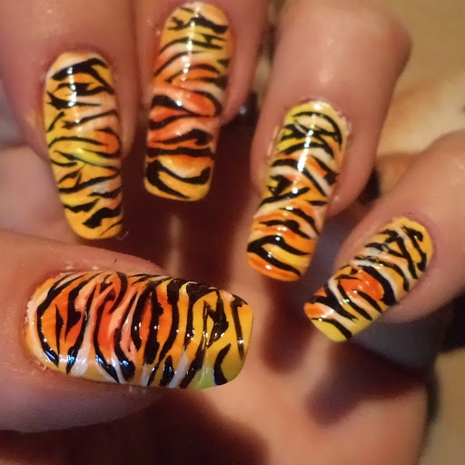 The 25 best tiger stripe nails ideas on pinterest tiger nail tiger stripes nail art prinsesfo Choice Image