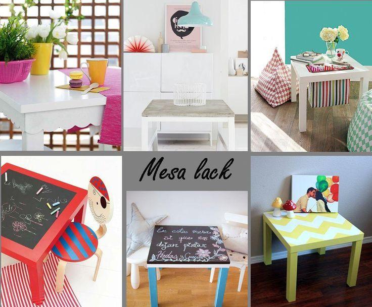 6 ideas para personalizar la mesa lack de ikea - Facilisimo decoracion ikea ...
