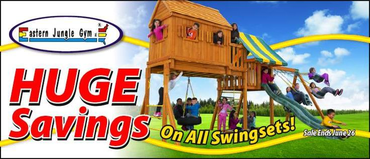 New sales happening now for the month of June! Amazing prices on wooden cedar swing sets, playset parts and swing set hardware. Visit our website to learn more!