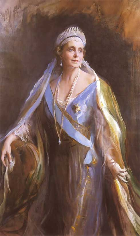 Philip Alexius de Laszlo's Queen Marie of Roumania, née Princess Marie of Edinburgh