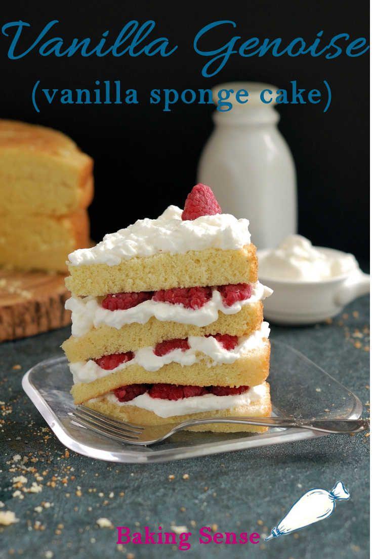 Vanilla Genoise Vanilla Sponge Cake Recipe Vanilla Sponge Cake Vanilla Recipes Sponge Cake