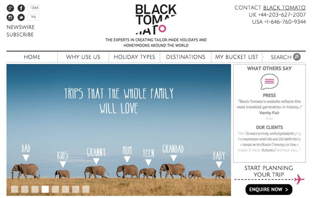 For luxury travel experience, you must check out Black Tomato which allows you all kinds of specific options to find a travel experience tailor made for your needs. Most notable is their Unusual Holidays, sure to inspire your creativity and wanderlust.