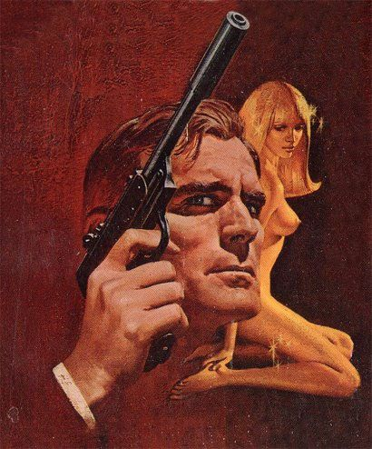 Frank McCarthy's James Bond book covers Bantam 1972 (Goldfinger)