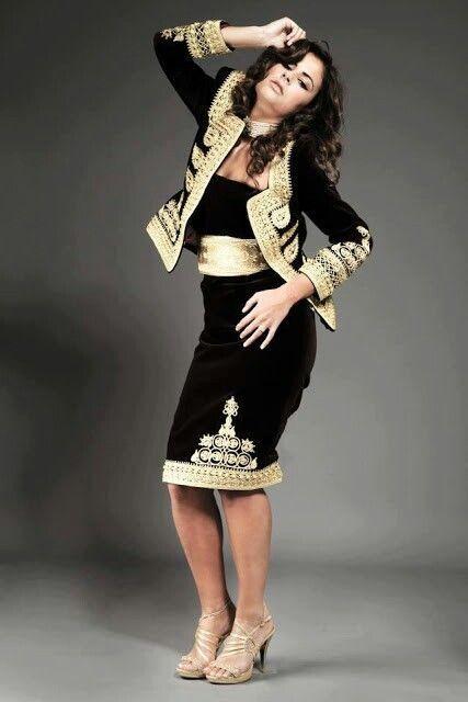 Algerian fashion: Black karakou inspired dress