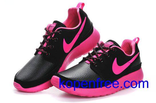 Kopen goedkope dames Nike Roshe Run Schoenen (kleur:vamp-zwart,binnenkant,