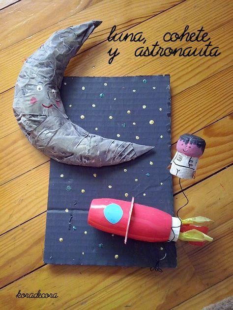En un rectángulo de cartón pintar el cielo oscuro y realizar las estrellas con pintura 3D. La Luna: recortar en un cartón la forma de ...