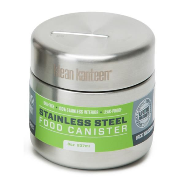 Klean Kanteen Stainless Steel Food Jar 237ml.  The next phase of our revolution is serious food transport for school, work, and play. Bulk ready Klean Kanteen® Food Canisters replace a lifetime of throw-away plastic/paper containers and bags. $23.95