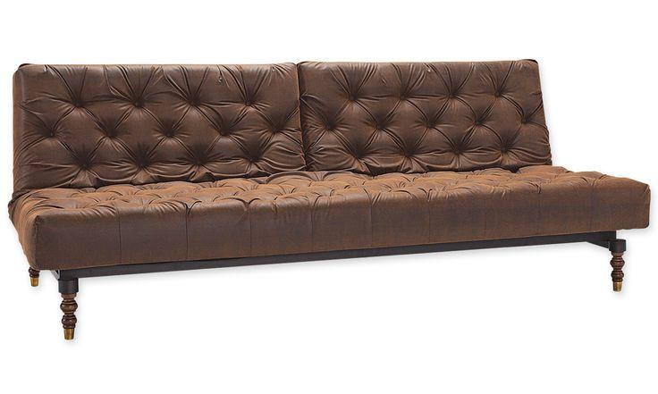 INNOVATION Oldschool Schlafsofa Brown Vintage 461 - Schlafsofas - Möbel   perfekt-schlafen.de #perfektschlafen.de #innovation #schlafsofa #wohnzimmer #gästezimmer #schlafzimmer