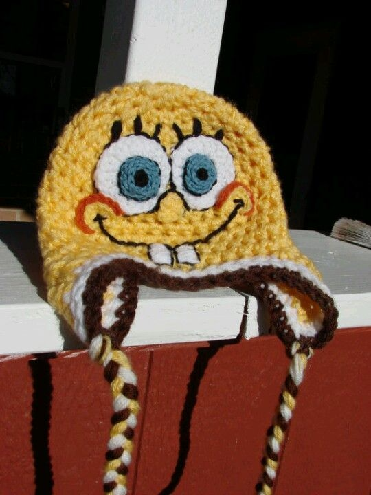 Spongebob crochet hat More crochet Pinterest