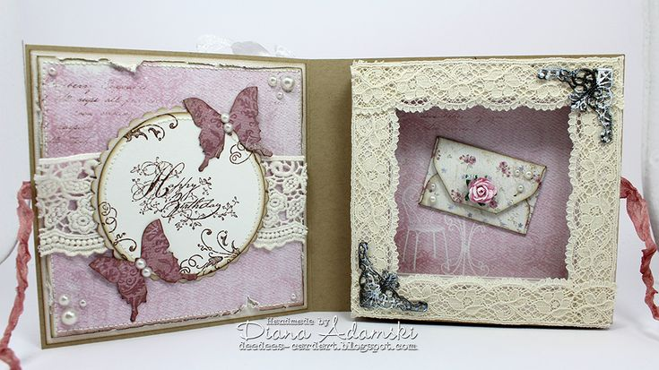 Live & Love Crafts' Inspiration and Challenge Blog: A book card