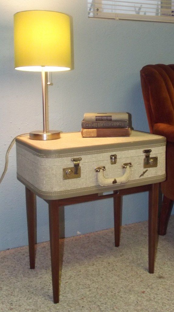 Vintage Suitcase Table DIY Tutorial | The Tutorial Gives Step By Step  Instructions With Lots Of