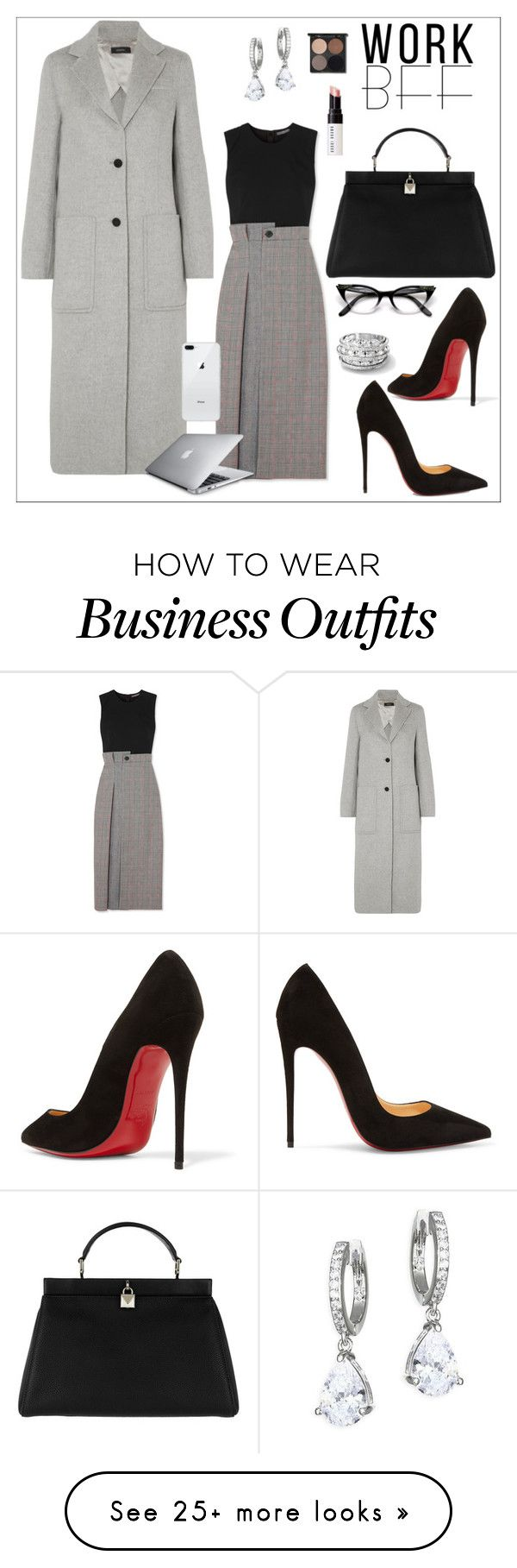 """WORK STYLE CONTEST"" by davide-mazzonello on Polyvore featuring Joseph, Alexander McQueen, Christian Louboutin, Michael Kors, Kate Spade, Bobbi Brown Cosmetics, WorkWear, AlexanderMcQueen, christianlouboutin and JOSEPHMARVIL"