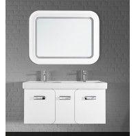 Комплект мебели для ванной комнаты Vod-ok Астрид-120 (2 двери, 1 ящик) белый