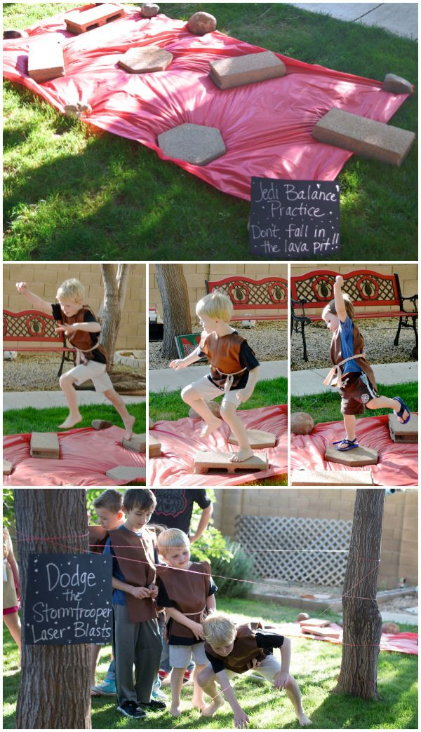 Star Wars Party Obstacle Course