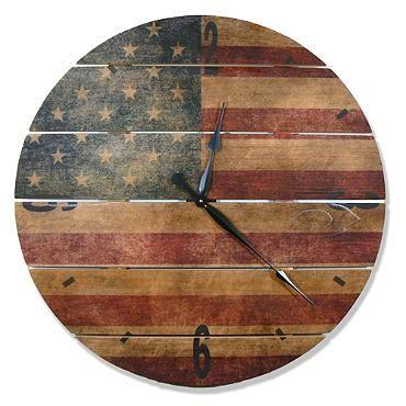 Rustic Flag Clock