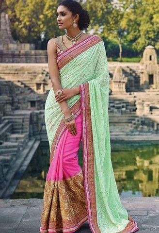 Pink Bembarg Designer Saree..@ fashionsbyindia.com #designs #indian #fashion #womens #style #cloths #clothes #stylish #casual #fashionsbyindia #punjabi #suits #wedding #saree #chic #elegance #beauty #outfits #fantasy #embroidered #dress #PakistaniFashion #Fashion #Longsuit #FloralEmbroidery #Fashionista #Fashion2015 #IndianWear #WeddingWear #Bridesmaid #BridalWear #PartyWear #Occasion #OnlineShopping #sari