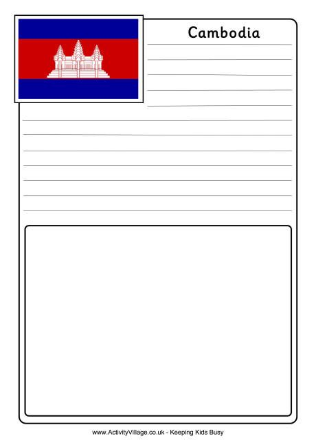 Cambodia notebooking page