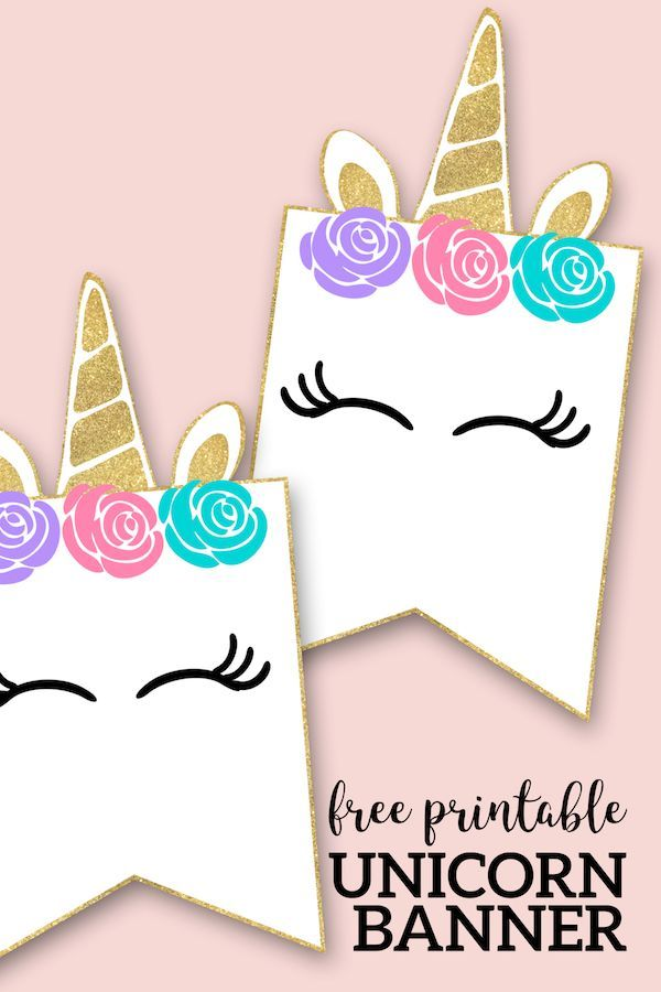 graphic relating to Free Printable Unicorn identify Cost-free Printable Unicorn Decorations Bash Banner Absolutely free