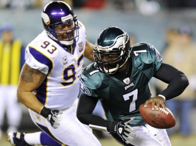 #11 Kevin Williams.  take another hit as Eagles lose to  24-14 in Tuesday night game career similars to all-pros Jared Allen, Kris Jenkins, Don Colo, Bubba Smith, Mark Gastineau, Bill Stanfill, Keith Millard, Wally Chambers, Charlie Johnson, Michael Carter  Randle could have been #7 if he hadn't gone to Seattle.