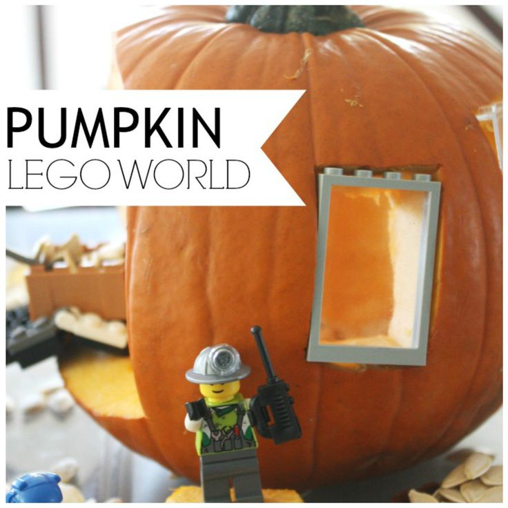 There are so many pumpkin play ideas. Don't just carve a Jack O'Lantern, create a LEGO pumpkin play small world. This STEM idea is perfect anytime this Fall