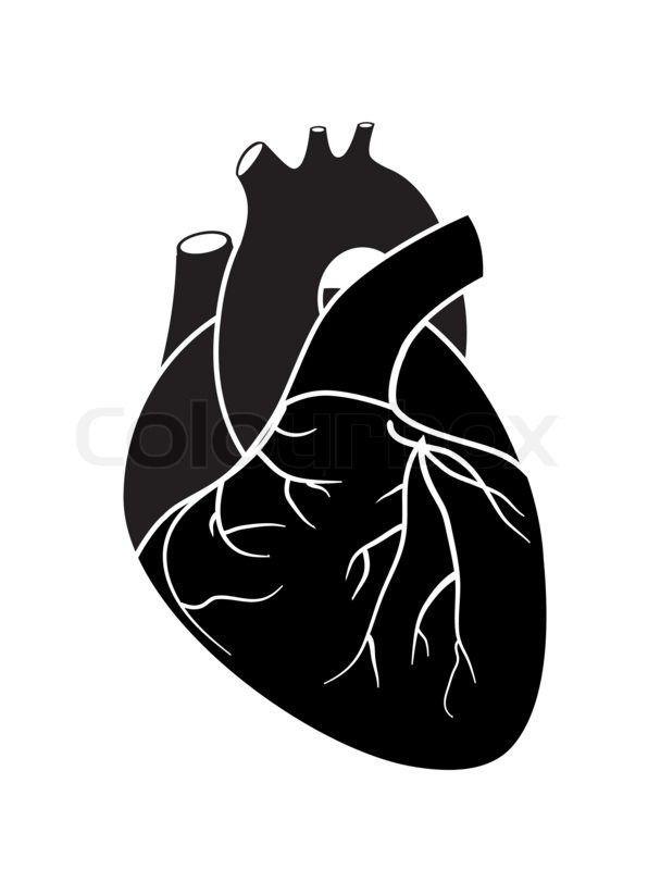 Картинки по запросу сердце черно белые