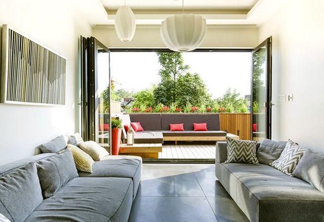 La terrasse des résidences Mentana