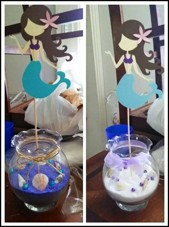 MERMAID DIE CUTS Under The Sea Baby Shower Birthday Centerpiece Its A Girl  Its A Boy Centerpieces Available Tulle Cute Disney