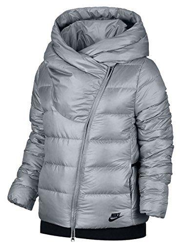 Women s Sportswear Puffer Down Jacket Black Cool Grey 854767 065 ... a94d966e3