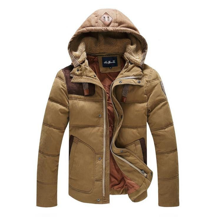 New Velvet Men Down Jacket Hooded Outwear Casual Collar Waist Parka Winter Coat  #Unbranded #WinterCoat