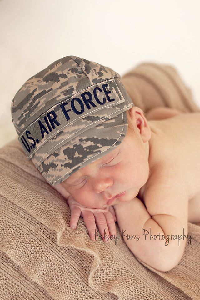AIR FORCE ABU Baby Military Cap, Air Force Baby, Military Hat, newborn Air Force cap by KaseyCreations on Etsy https://www.etsy.com/listing/100947109/air-force-abu-baby-military-cap-air