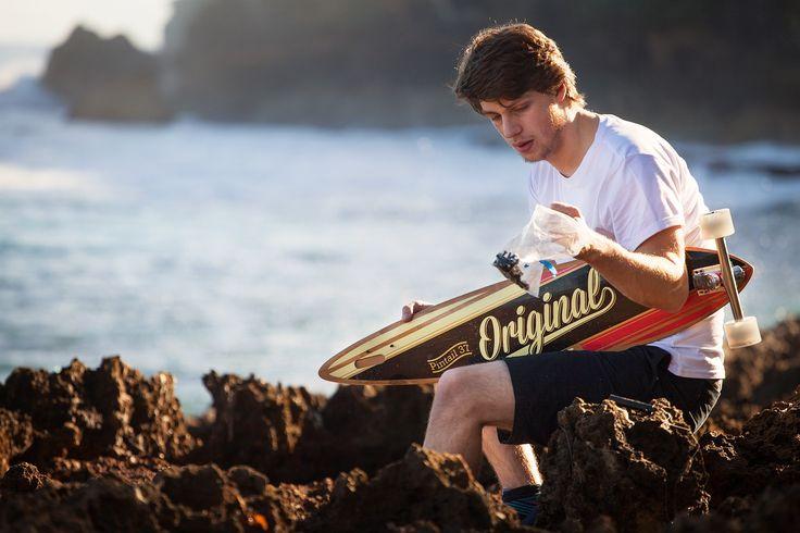 Longboard Original Skateboards Pintail 37 (Bamboo)