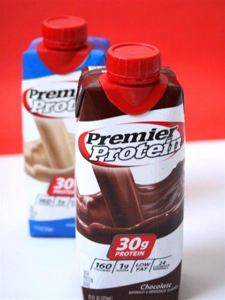 """Premier Protein Shake - Premier Protein Shakes - """"The chocolate is my fav. 30g of protein for only 160 calories and 5g of carbs? Carbs 5 and Fiber 3 which makes net carbs 2!!!"""""""