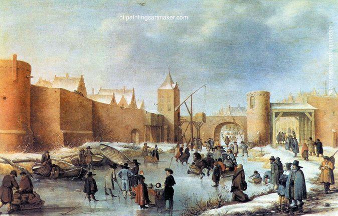 Barent Avercamp Winter landscape by Kampen, painting Authorized official website