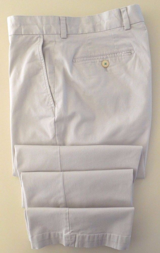SOUTHERN Tide CHINOS 34 30 Beige FLAT Front COTTON Blend MENS Size INTERCOASTAL…