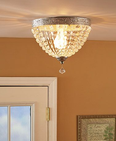 Dress up any recessed or single-socket lighting fixture with this Beaded Ceiling Light Cover.When the light shines through the crystal-look beads, it brin