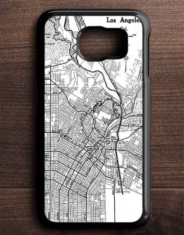 Vintage Map Los Angeles Samsung Galaxy S6 Edge Case