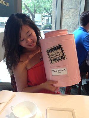 My chosen tea - Milk Oolong, from Taiwan!