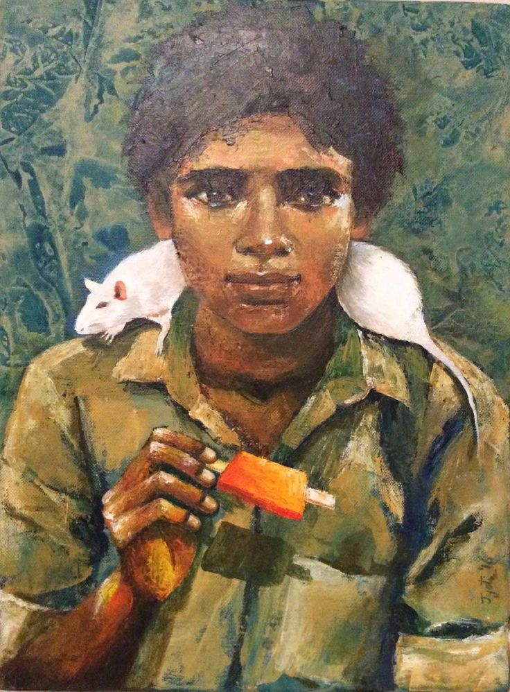 """Art of the day, """"Boy With Icecream"""" by Jyotii Tibrewal   #Artsmelange #ArtMeetsArtHere"""