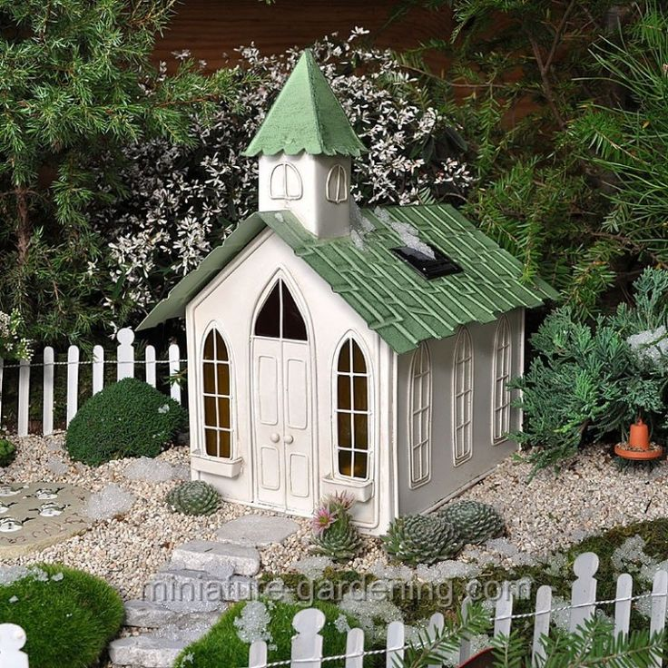 Solar Chapel it's LIGHTED! Where to Buy Miniature and