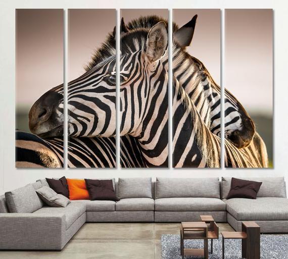 Zebra Split Canvas Zebra Print Zebra Split Wall Art Zebra Etsy Zebra Art Office Wall Art New York Canvas
