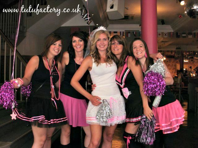 Cheerleader Costume Hen Night Theme Sparkle Tutu For The Bride