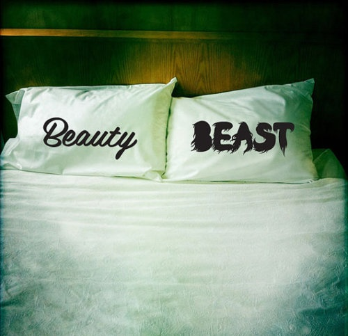 Hahaha! I want these. And no Michael, you won't be sleeping on the Beauty pillow. =P