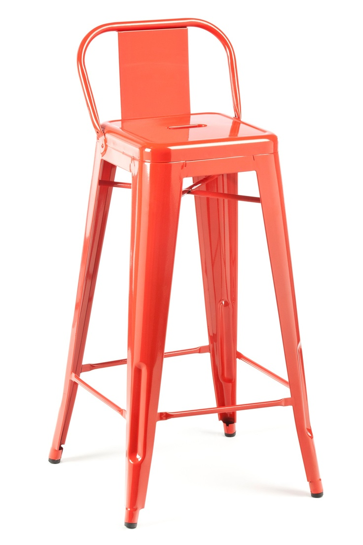 Low Back Stool-kitchen bar stool. I've seen these without the back, but this is even cuter.