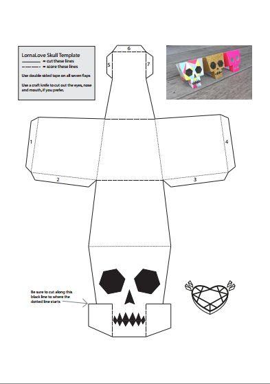 Printable Customizable Skulls Halloween 1