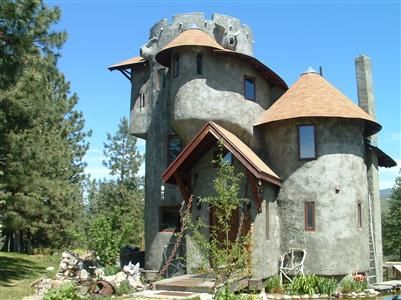 Winthrop castle the custom home is designed to look like a for Small houses that look like castles