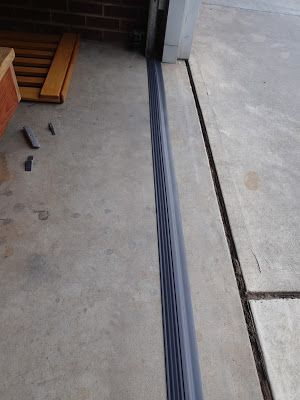 Our garage as a water issue, water comes in every time it rains under the garage door. We started looking into a solution and decided on adding a threshold. But first I needed to clean the garage a…