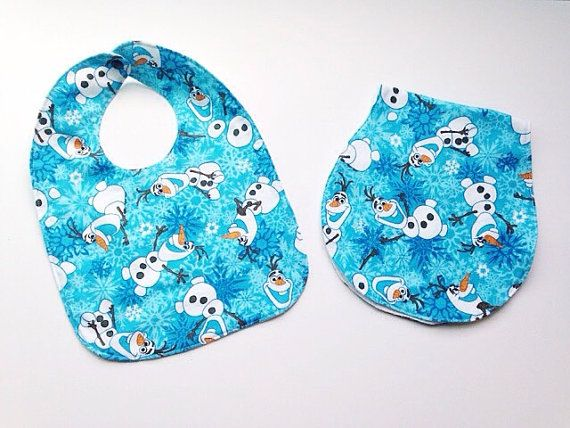 Hey, I found this really awesome Etsy listing at https://www.etsy.com/listing/209961537/olaf-bib-and-burp-cloth-set