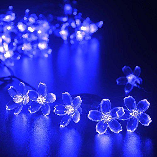 lederTEK Solar Fairy String Lights 21ft 50 LED Blue Blossom Decorative Gardens, Lawn, Patio, Christmas Trees, Weddings, Parties, Indoor and Outdoor Use (50 LED Blue) lederTEK http://www.amazon.com/dp/B00MRM23VS/ref=cm_sw_r_pi_dp_EVTYub1F2RXTZ