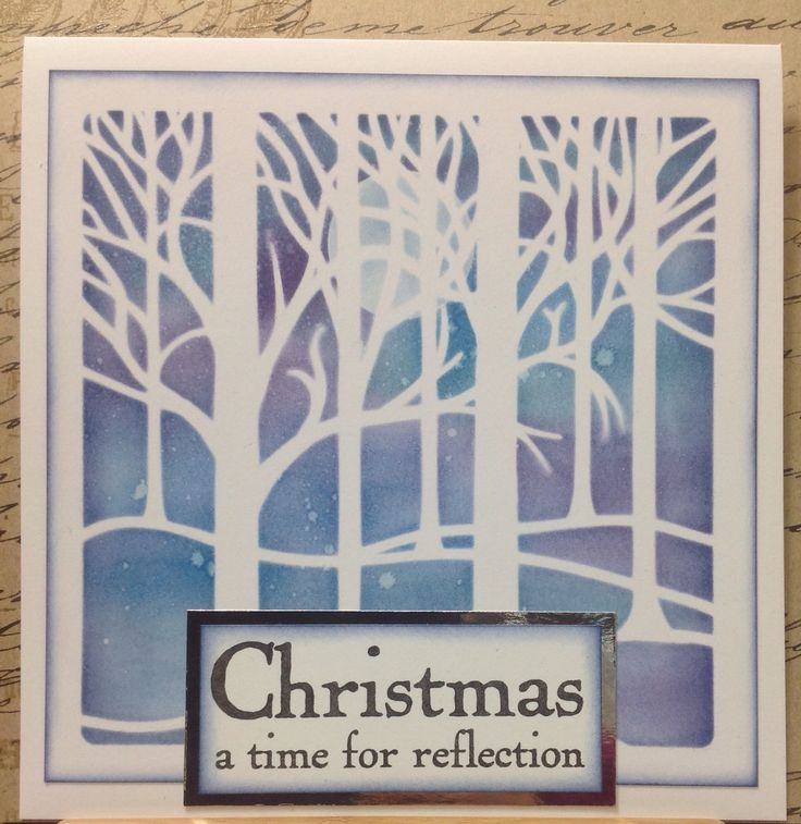 For my Brother, Claritystamp stencil and stamp